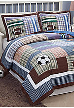 Max's Field Multicolored Twin Quilt 66-in. 86-in. with Sham 20-in. x 26-in.