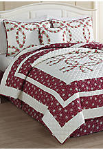 Floral Ring 5-piece Queen Quilt Set 86-in. x 86-in.