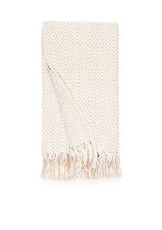 Home Accents Khaki and Ivory Diamond Chenille Throw