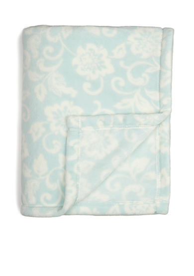 Home Accents® Microplush Blue Floral Throw