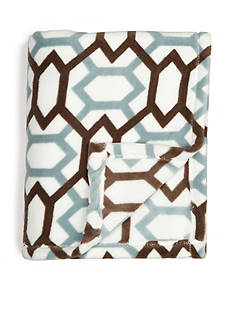 Home Accents Microplush Slate Diamond Throw