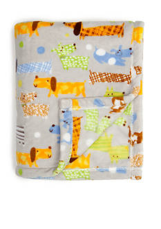 Home Accents Microplush Happy Dogs Throw