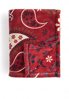 Home Accents Microplush Multi Paisley Throw