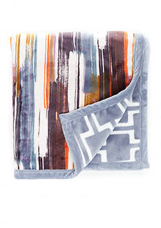 Home Accents Brushstrokes Reversible Plush Throw