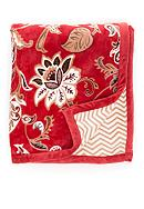 Home Accents® Red Jacobean Floral Reversible