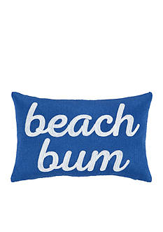 PEKING HANDICRAFT Beach Bum Embroidered Decorative Pillow