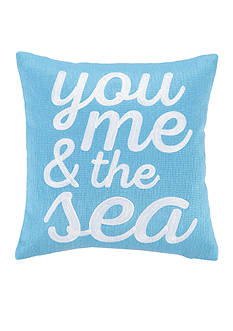 PEKING HANDICRAFT You Me and the Sea Decorative Pillow