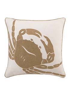 PEKING HANDICRAFT Crab Embroidered Decorative Pillow