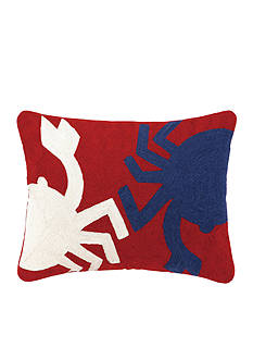 PEKING HANDICRAFT Crab Crewel Pillow Decorative Pillow