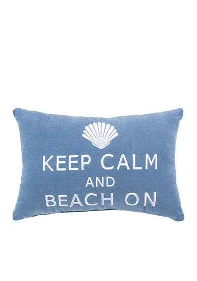 PEKING HANDICRAFT Keep Calm and Beach On Decorative Pillow