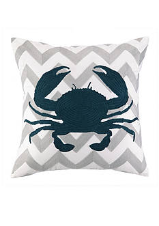 PEKING HANDICRAFT Crab Chevron Decorative Pillow