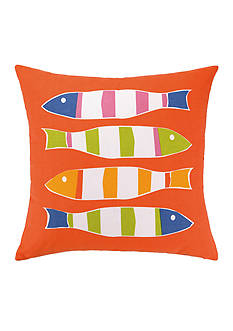 PEKING HANDICRAFT Picket Fish Decorative Pillow