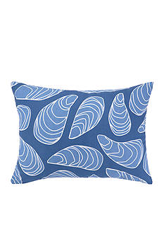 PEKING HANDICRAFT Mussel Printed Outdoor Oblong Decorative Pillow