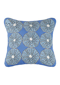 PEKING HANDICRAFT Blue Urchins Printed Decorative Pillow