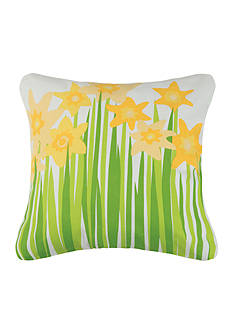 PEKING HANDICRAFT Daffodil Printed Decorative Pillow