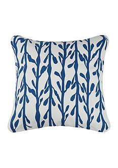 PEKING HANDICRAFT Indigo Coast Seaweed Outdoor Decorative Pillow 20