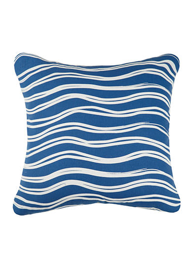 PEKING HANDICRAFT Indigo Coast Water Decorative Pillow
