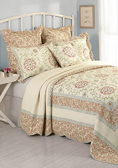 Modern Heirloom Collection Rosaleen Quilted Bedspread Collection