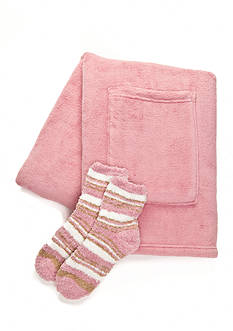 Park Avenue Solid Readers Wrap and Sock Set