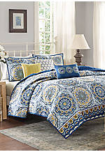 Tangies King 6-Piece Coverlet Set  104-in. x 94-in.