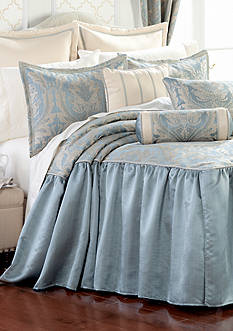 Home Accents® Regency Blue Luxury Bedspread Ensemble