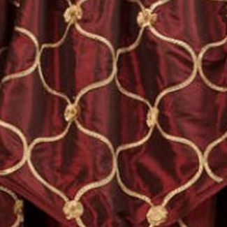 Red Curtains: Merlot Home Fashions International ENZO TAUPE