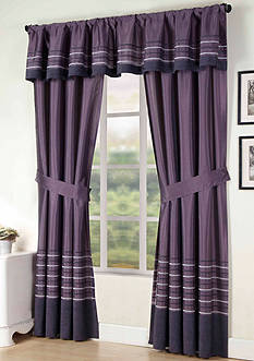 Home Fashions International Sasha Solid Window Curtain Panel - Online Only
