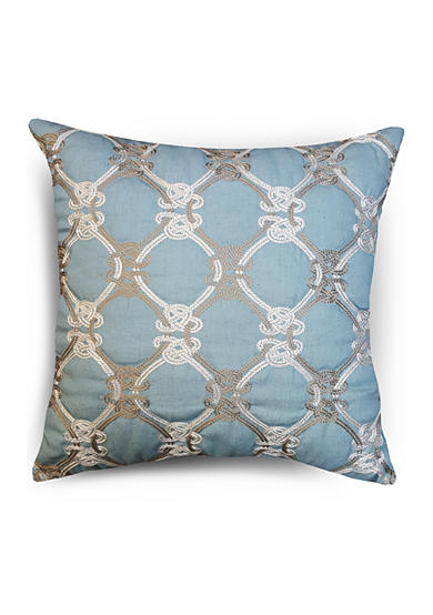 Home Fashions International CL Knots Duckegg Decorative Pillow