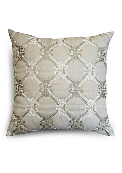 Home Fashions International CL Knots Linen Decorative Pillow