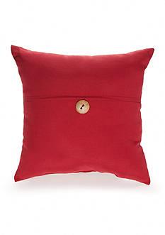 Home Fashions International Linen Button Pillow