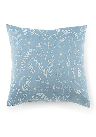 Kathy Davis® Tranquility Embroidered Leaf Pillow