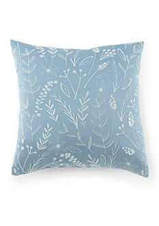 Kathy Davis Tranquility Embroidered Leaf Pillow
