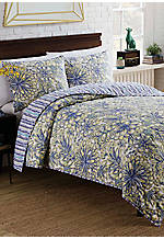 Vue Shaylee Reversible 2 Piece Twin Quilt Set 68-in. x 90-in.