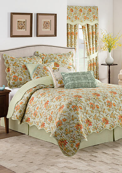 Waverly® Felicite Persimmon Reversible Quilt Collection