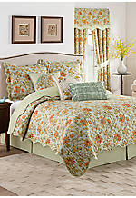 Felicite Persimmon 4-Piece Reversible Full/Queen Quilt Collection
