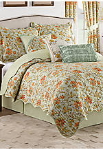 Felicite Persimmon 4-Piece Reversible King Quilt Collection