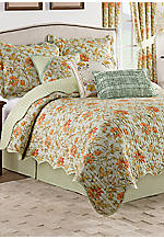 Felicite Persimmon 3-Piece Reversible Twin Quilt Collection