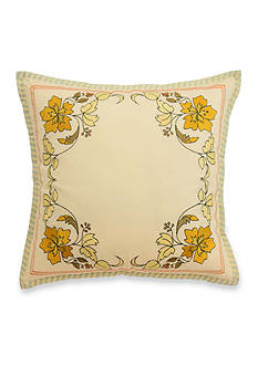 Waverly Felicite Persimmon Embroidered Decorative Accessory Pillow