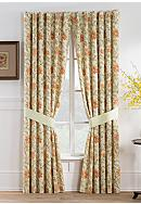 Waverly® Felicite Persimmon Curtain Panel Pair