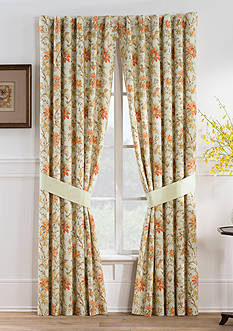 Waverly Felicite Persimmon Curtain Panel Pair