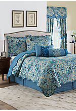 Moonlit Shadows 4-Piece King Reversible Quilt Collection