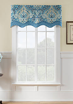 Waverly Moonlit Shadows Wave Window Valance