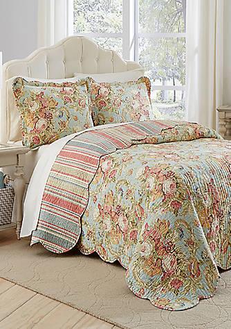Waverly 174 Spring Bling Reversible Bedspread Set Belk