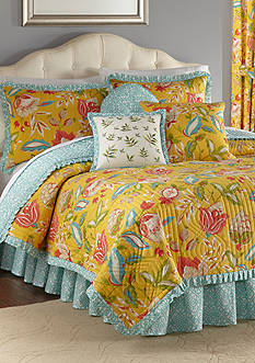 Waverly Modern Poetic Twin Reversible Quilt Set