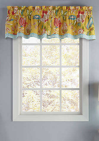 Waverly modern poetic sunshine valance belk for Photo sunshine valence