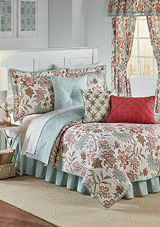 Waverly Jacobean Flair Full/Queen Quilt Set