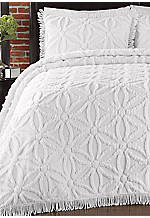 Arianna White Twin Bedspread Set 81-in. x 110-in.