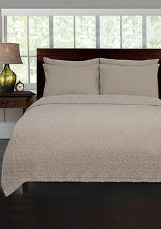 Lamont Home® RIVERBED TWIN COVERLET TAUPE