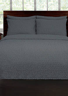 Lamont Home® RIVERBED TWIN COVERLET NAVY