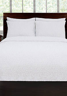 Lamont Home RIVERBED TWIN COVERLET WHITE